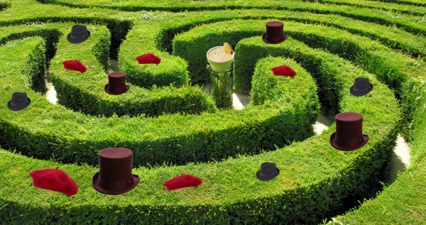 maze of hats
