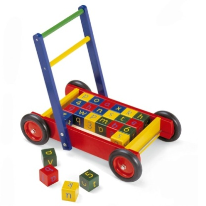 trolley with blocks