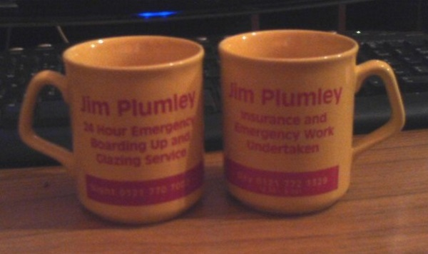 SN I've no idea who Jim Plumley is. I've even less of an idea why I have two of them