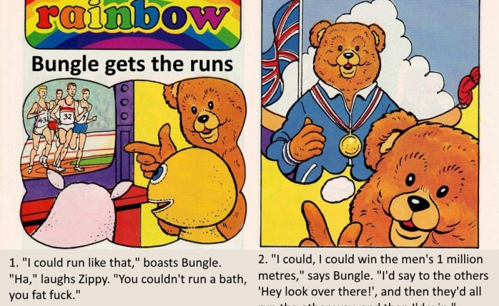 Rainbow Comic: Bungle gets the runs