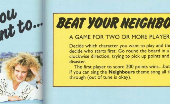 The confusing 1989 Neighbours Annual board game
