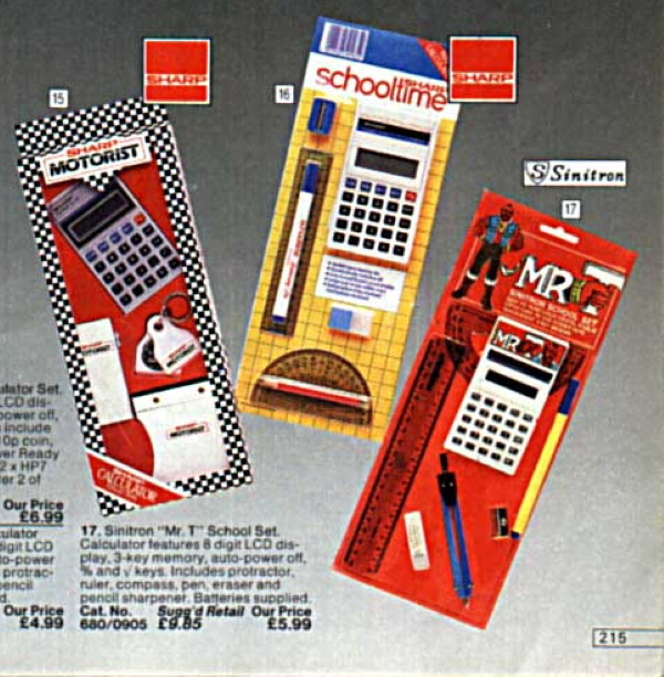 Argos 1984 phones mr t calculator